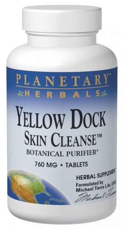 Buy PLANETARY HERBALS, Yellow Dock Skin Cleanse™, 60 tablet at Herbal Bless Supplement Store