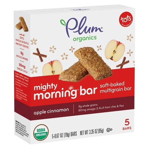 Buy Plum Organics, Mighty Morning Bar, Apple Cinnamon - 0.418 oz (8ct) at Herbal Bless Supplement Store