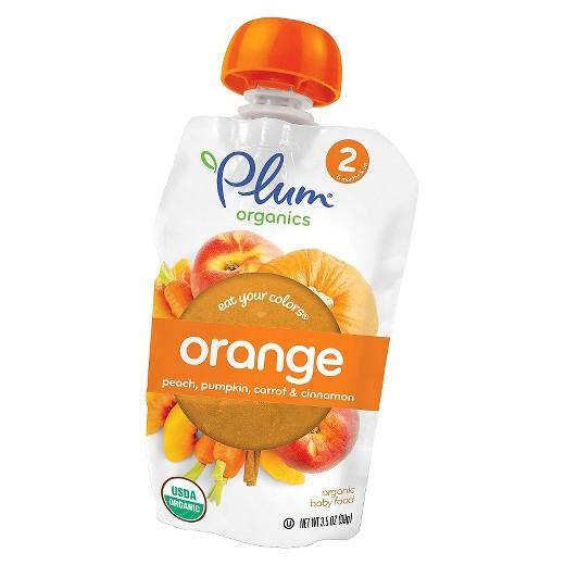 Buy Plum Organics, Orange: Peach, Pumpkin & Carrot with Cinnamon - 3.5oz at Herbal Bless Supplement Store