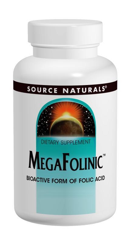Buy Source Naturals, MegaFolinic™ 800mcg, Tablets at Herbal Bless Supplement Store