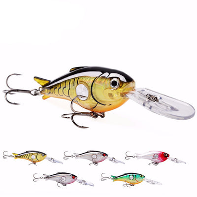 Premium Fishing Lures Crankbait Floating Pack of 5 PCS