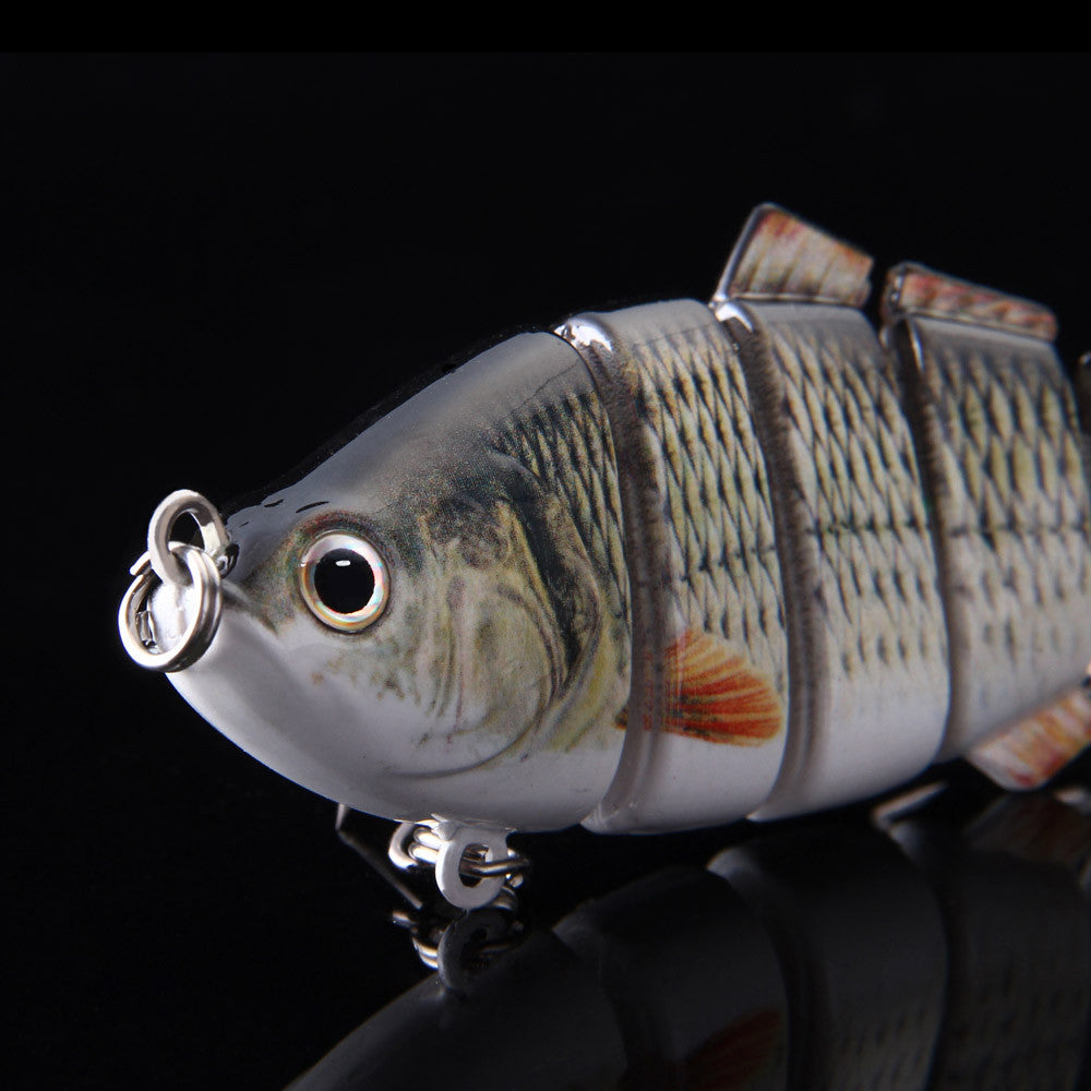 Lifelike Fishing Lure 6 Jointed Sections Swimbait 3D Eyes