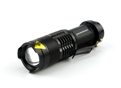 500 Lumen Waterproof Tactical LED Flashlight 3 Modes Zoomable