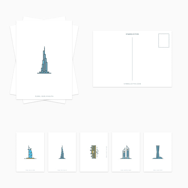 DUBAI Postcard Set