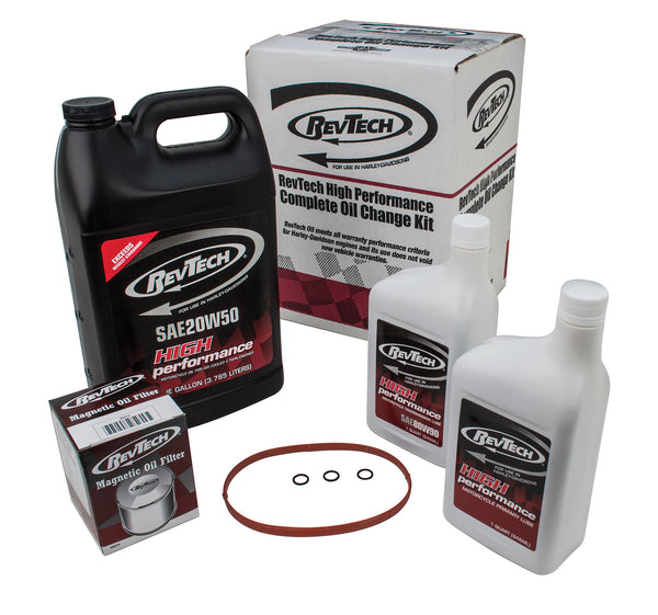 RevTech Complete Oil Change Kit for EVO DYNA Glide 91-98