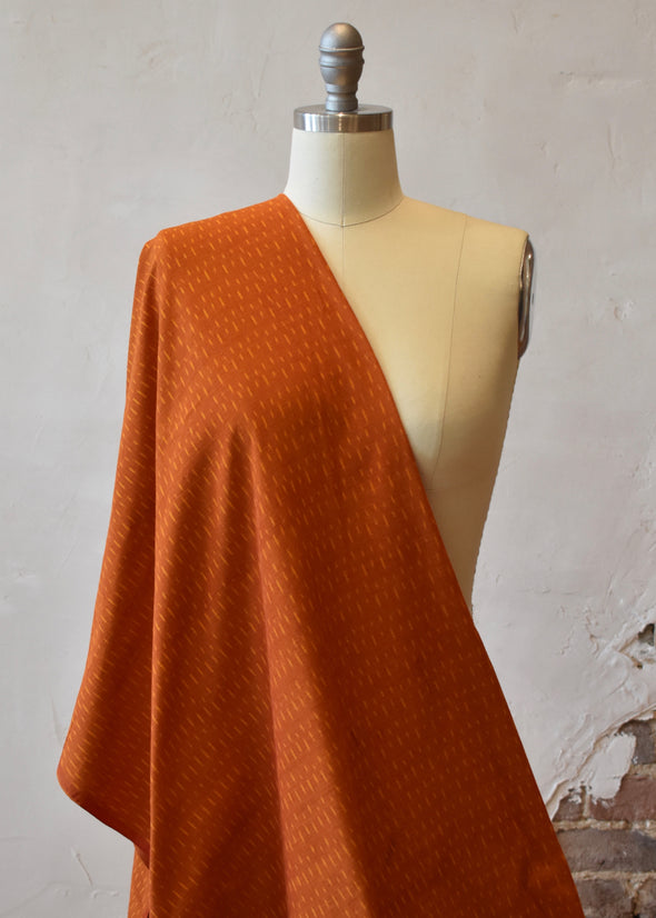 Single Ikat Burnt Orange