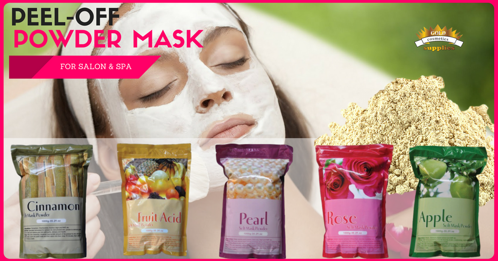 1 case/ 14-bags MIX - Pell-off powder masks - Gold Cosmetics & Supplies