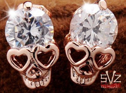Almost FREE - New fashion skull stud earring.