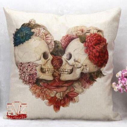 Almost FREE - Decorative skull pillow cover - 8 Patterns