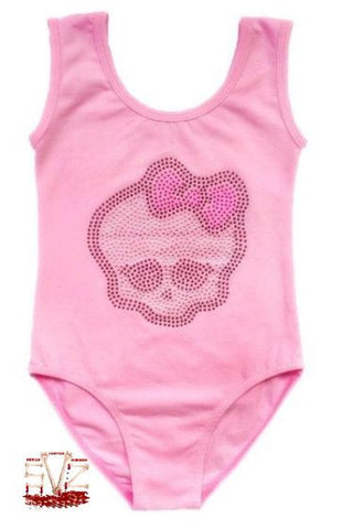 Gymnastic or Dance cloth with girly skull