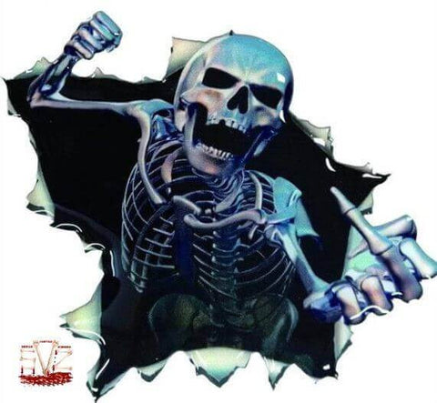 New funny car sticker skull.