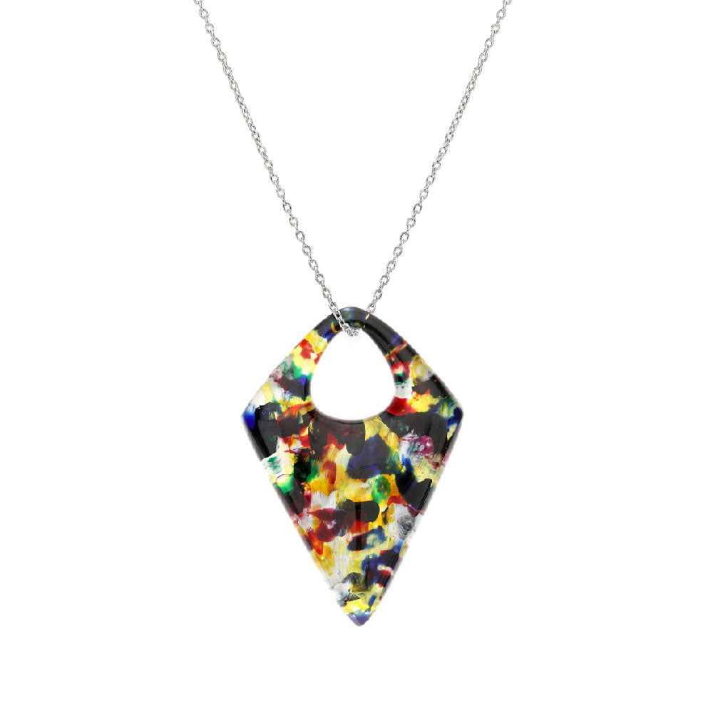 Light Multi Color Painted Pendant