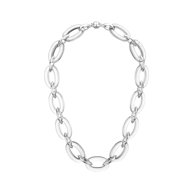 Clear Oval & Marquise Lucite Necklace