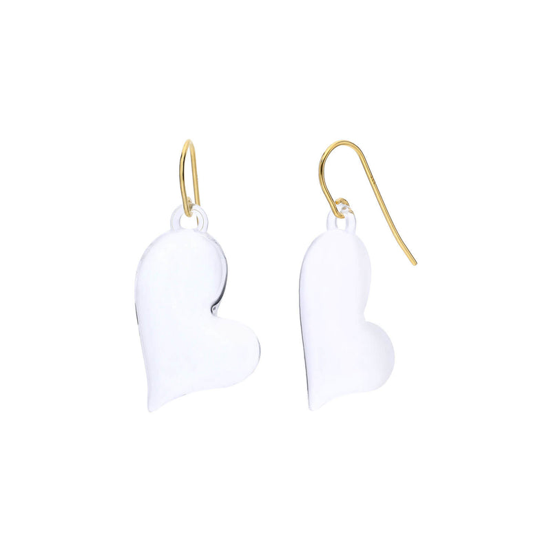 Lucite Heart Drop Earrings