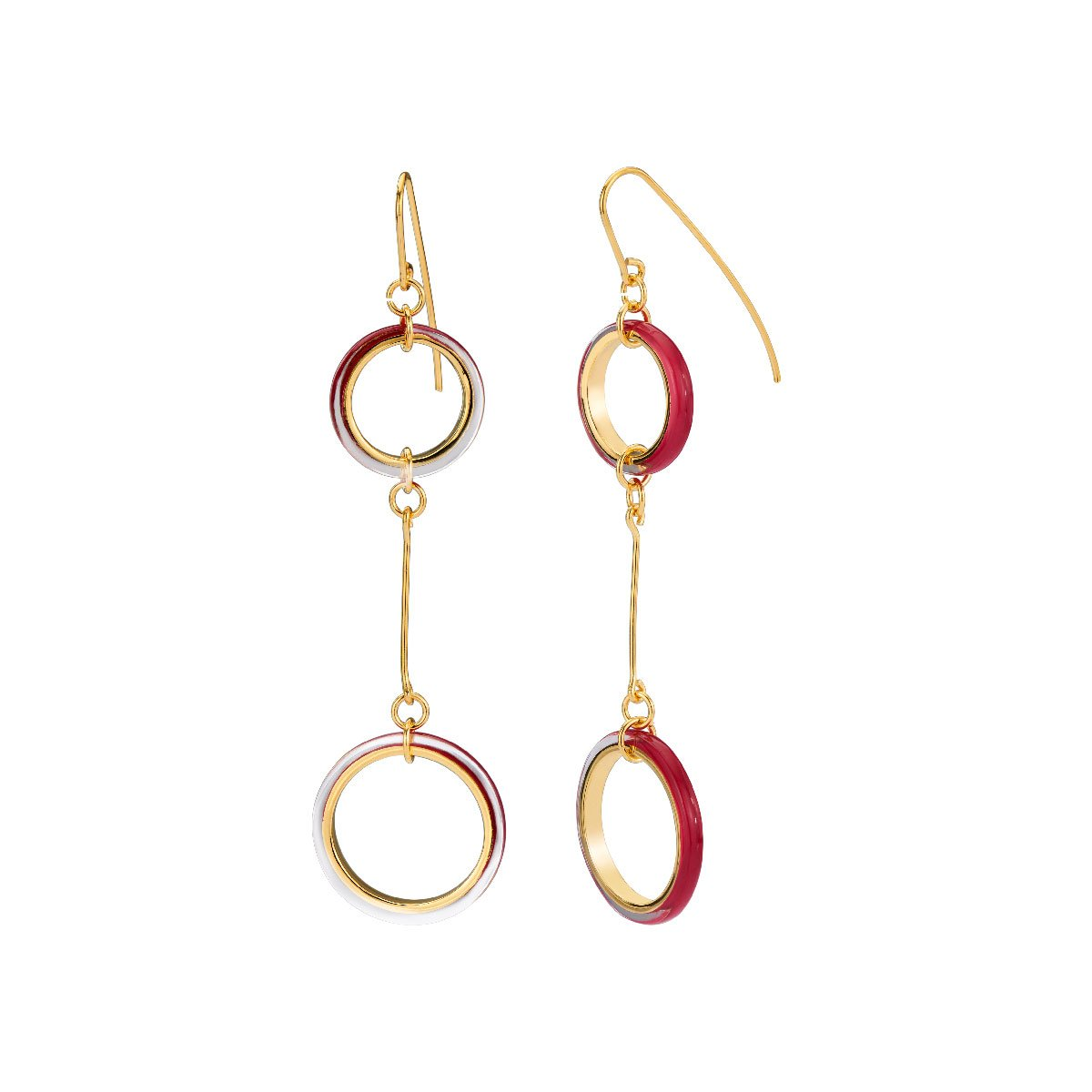 Thin Two Drop Lucite Earrings