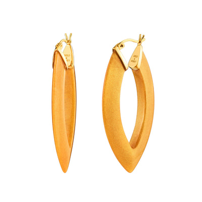 Marquise Lucite Hoops - GOLDEN NUGGET