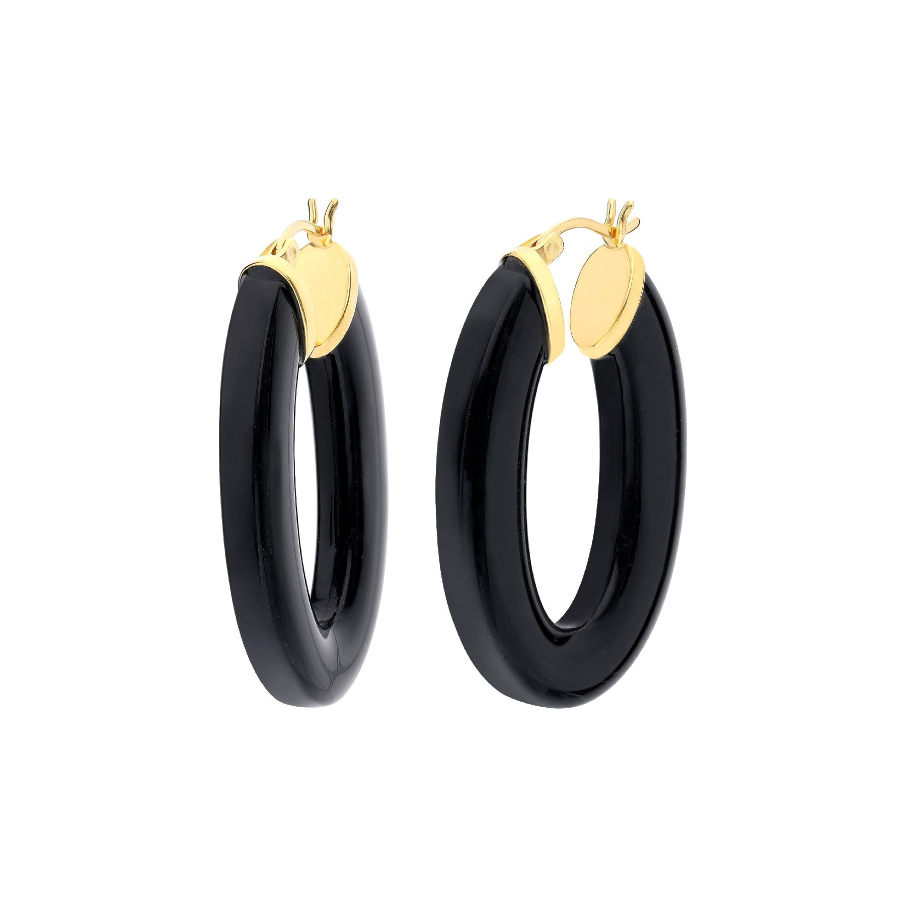 Flat Oval Lucite Hoops