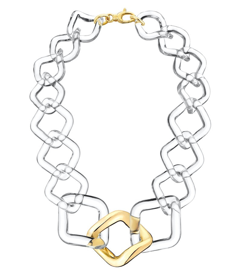Oversized Twisted Link Necklace