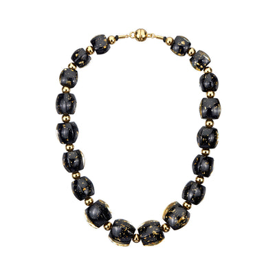 Beaded Lucite Necklace - GOLDENITE