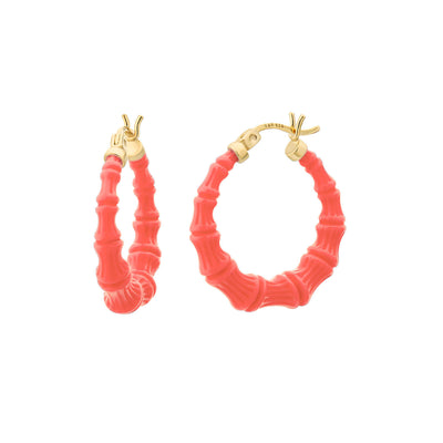Mini Bamboo Hoops - LIVING CORAL