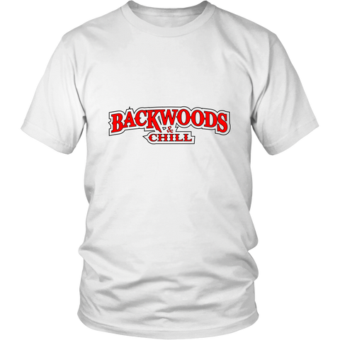 Backwoods & Chill Marijuana Funny T-Shirt