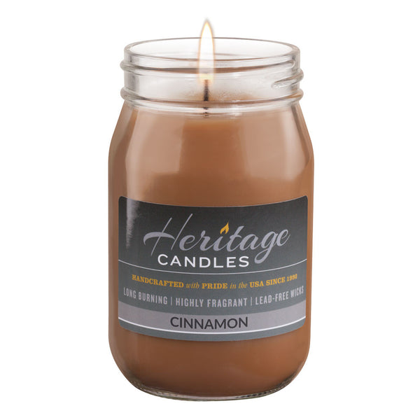16-oz Canning Jar Candle - Cinnamon
