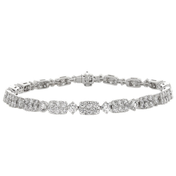 6F039773AWLBD0 18KT White Diamond Bracelet