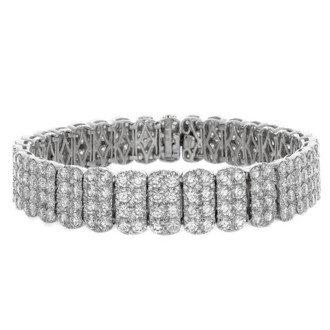 6F052087AWLBD0 18KT White Diamond Bracelet