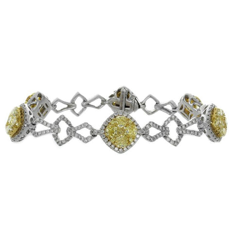 6F601819AULBYD 18KT Yellow Diamond Bracelet
