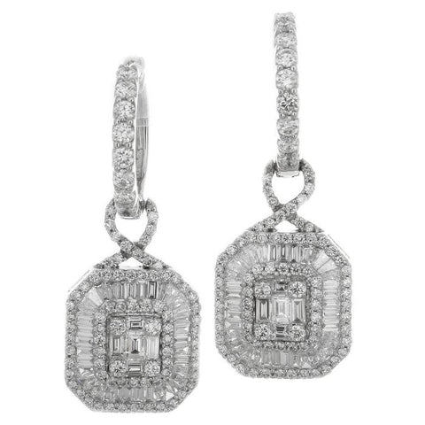 6FL033575AWERD0 18KT White Diamond Earring