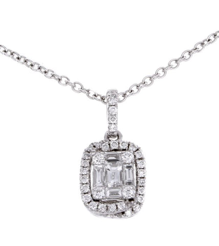 6FL033828AWPDD0 18KT White Diamond Pendant