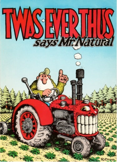 "R. Crumb Greeting Card: ""Twas Ever Thus"""
