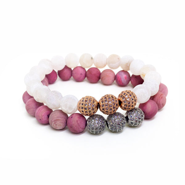 Friendship x Priority Stretch Beaded Bracelet