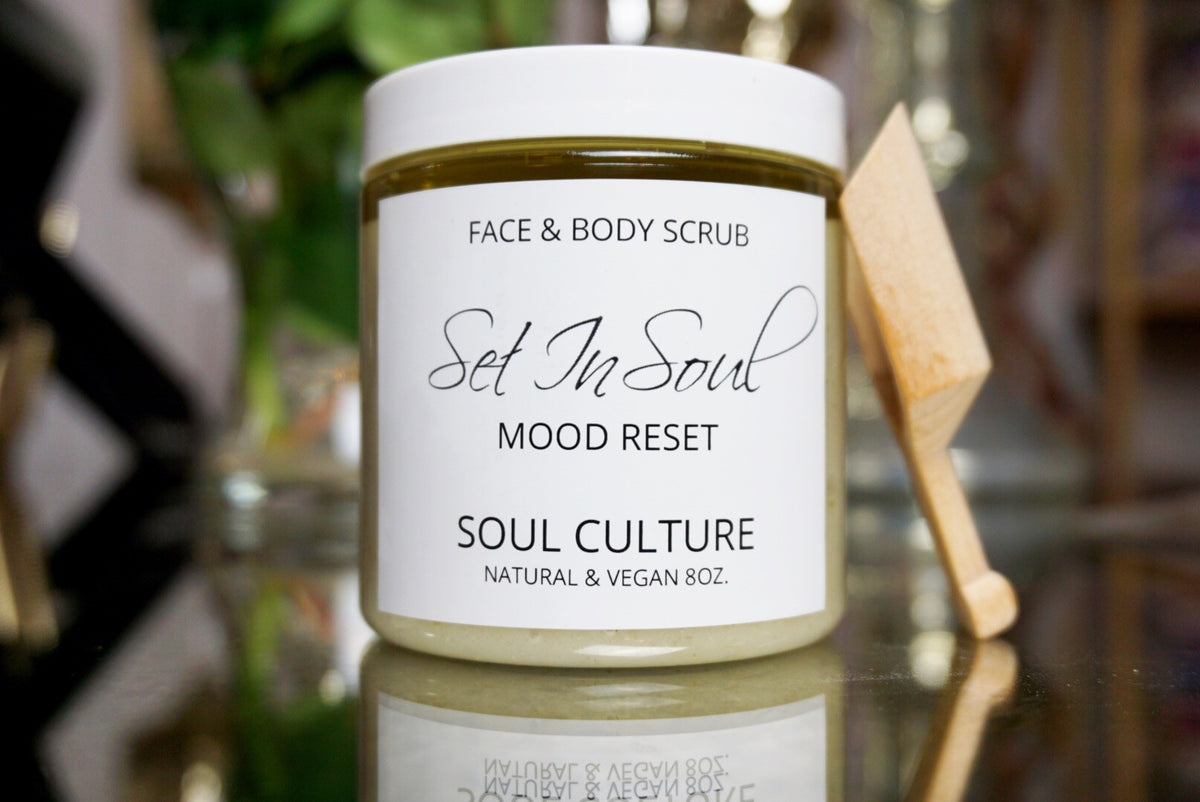 Mood Reset (Lemongrass) Face & Body Scrub With Scooper