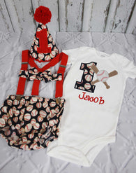 Boys Cake Smash Outfit,Baseball Cake Smash Outfit,Boys First Birthday Clothes,