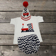 Boys Red Wagon Cake Smash,Wagon Cake Smash Outfit,Boys First Birthday Clothes