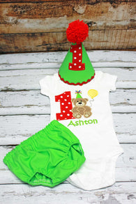 Boys Cake Smash Outfit,Teddy Bear Cake Smash Outfit,Boys First Birthday Clothes