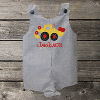 Boys Valentine Jon,Boys Valentine Digger Jon,Boys First Valentine Clothes,Boys First Valentine Outfit,Appliquéd Embroidered Jon Jon Shortall Longall