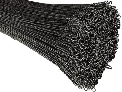 11 Gauge Single Loop Black Annealed Bale Ties - BalerWire.com