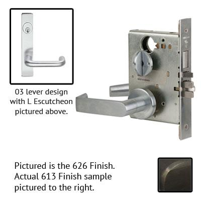 Schlage L9040S 03L 613 Oil Rubbed Bronze Finish Privacy Lever Mortise Lock With Cylinder