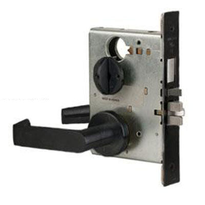 Schlage L9040S 06A 622 Black Finish Privacy Lever Mortise Lock With Cylinder