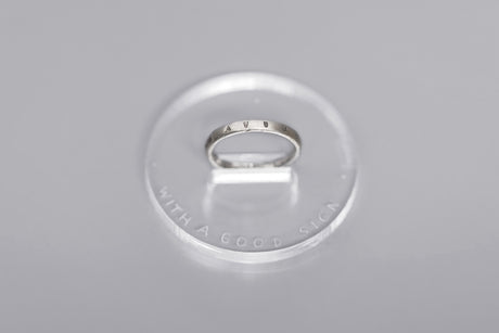 Mini silver ring with inscription in Latin