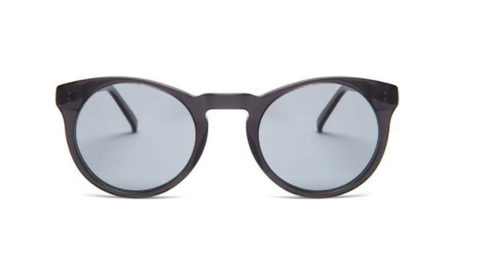 Soft Rounded Black Supernormal Sunglasses