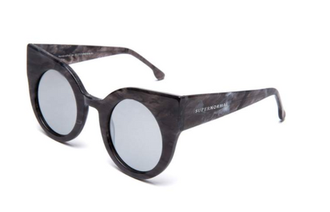 Oversized Cat Eye Mirrored Supernormal Sunglasses
