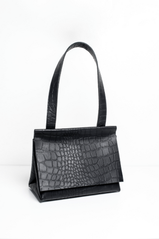 The Lady Bag in Croc-effect Leather