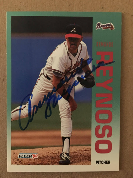 Armando Reynoso Signed 1992 Fleer Baseball Card - Atlanta Braves