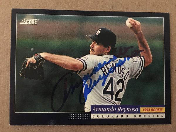 Armando Reynoso Signed 1993 Score Baseball Card - Colorado Rockies