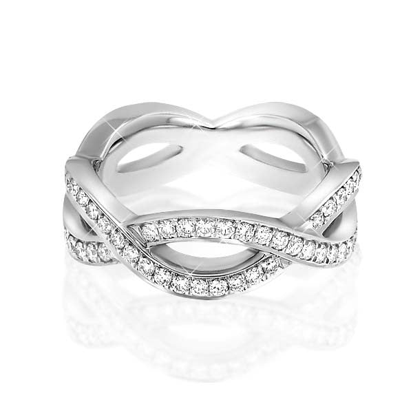 Curvy Diamond Eternity Ring - SEA Wave Diamonds