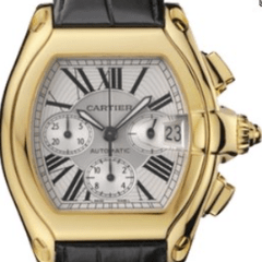 Cartier 2618 Roadster Chronograph 18k yellow gold like new - SEA Wave Diamonds