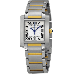 Cartier 2302 Tank Francaise Large Steel and Yellow Gold - SEA Wave Diamonds